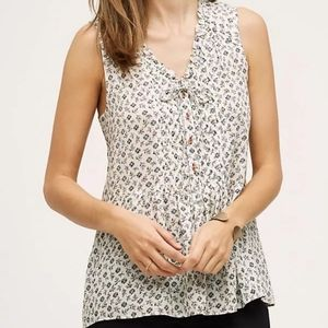 Anthro Holding Horses Faye Floral Sleeveless Top